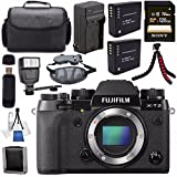 Fujifilm X-T2 Mirrorless Digital Camera (Black) 16519247 + NP-W126 Lithium Ion Battery + Sony 64GB SDXC Card + Carrying Case + Flexible Tripod + Flash + Memory Card Wallet Bundle