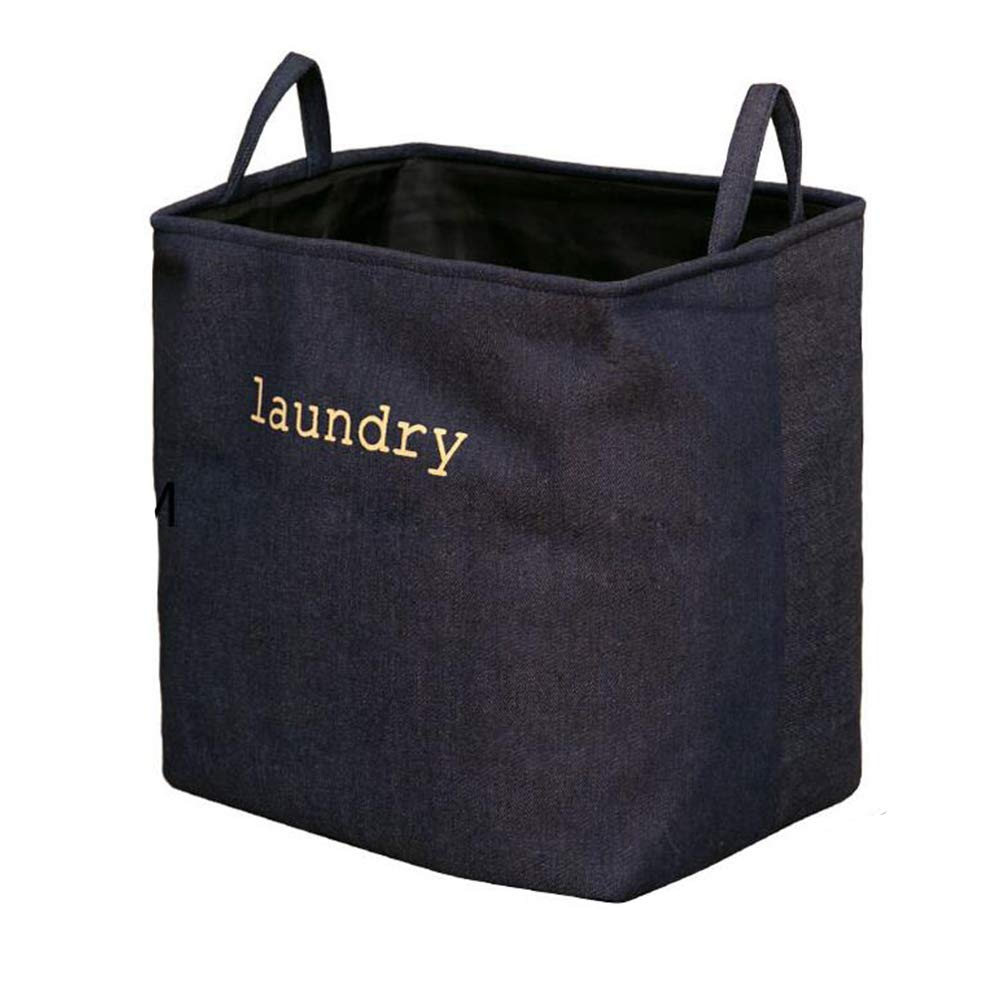 A laundry hamper -Thickened Cotton thread Laundry Baske- Waterproof Round Collapsible Storage Basket