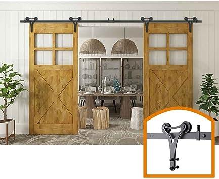 homedeco hardware 17 FT Nacional decorativa Big separador interior puerta corredera Hardware un baño superficie: Amazon.es: Bricolaje y herramientas
