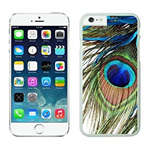 Iphone 6 Case, Peacock Feather Iphone 6 Plus(5.5-inch) Cases White Cover