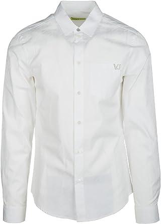 Versace Jeans EB1GQA6S1_E13791 Camisa de Vestir, Blanco ...