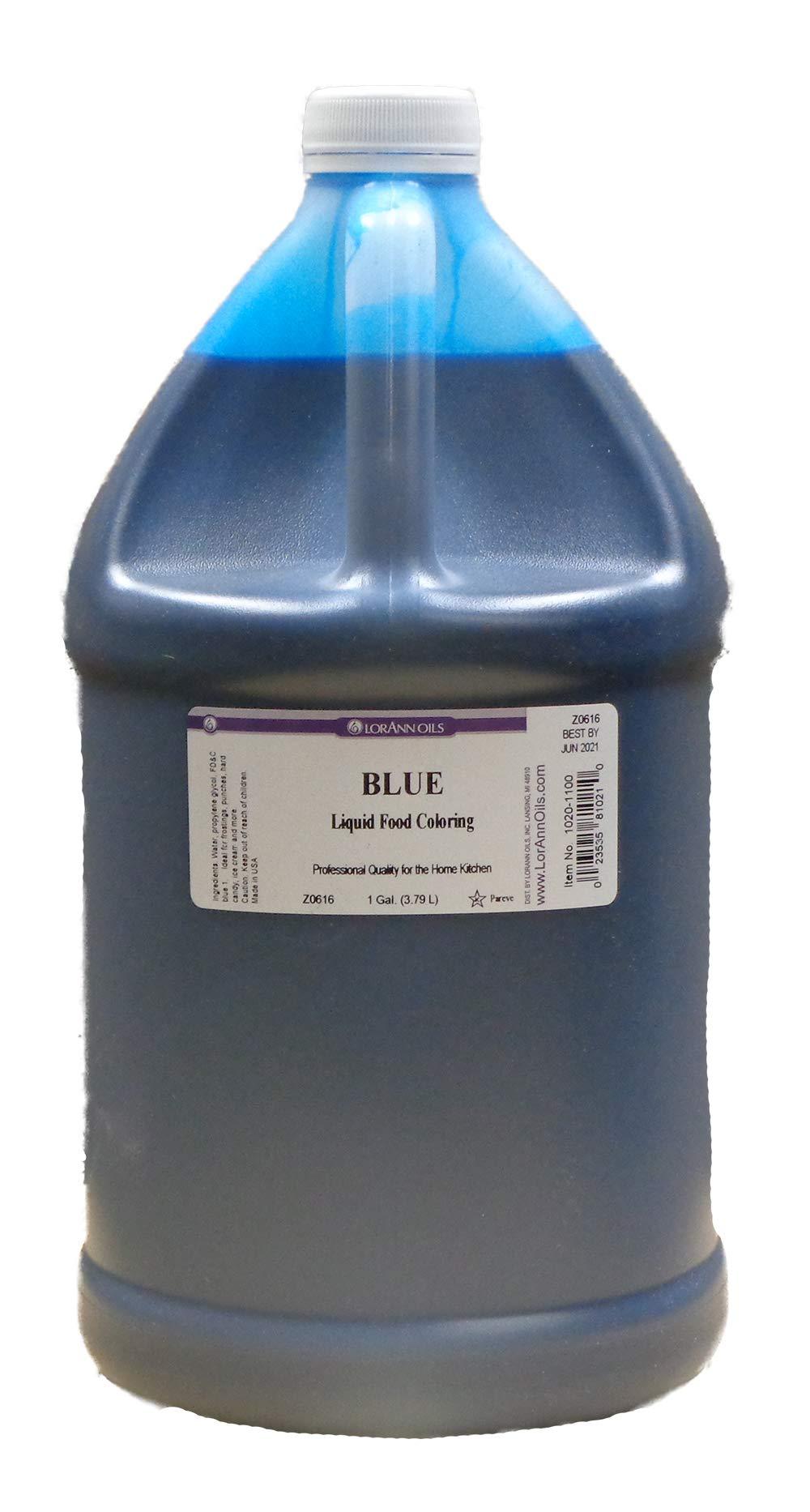LorAnn Blue Liquid Food Coloring, Gallon Size