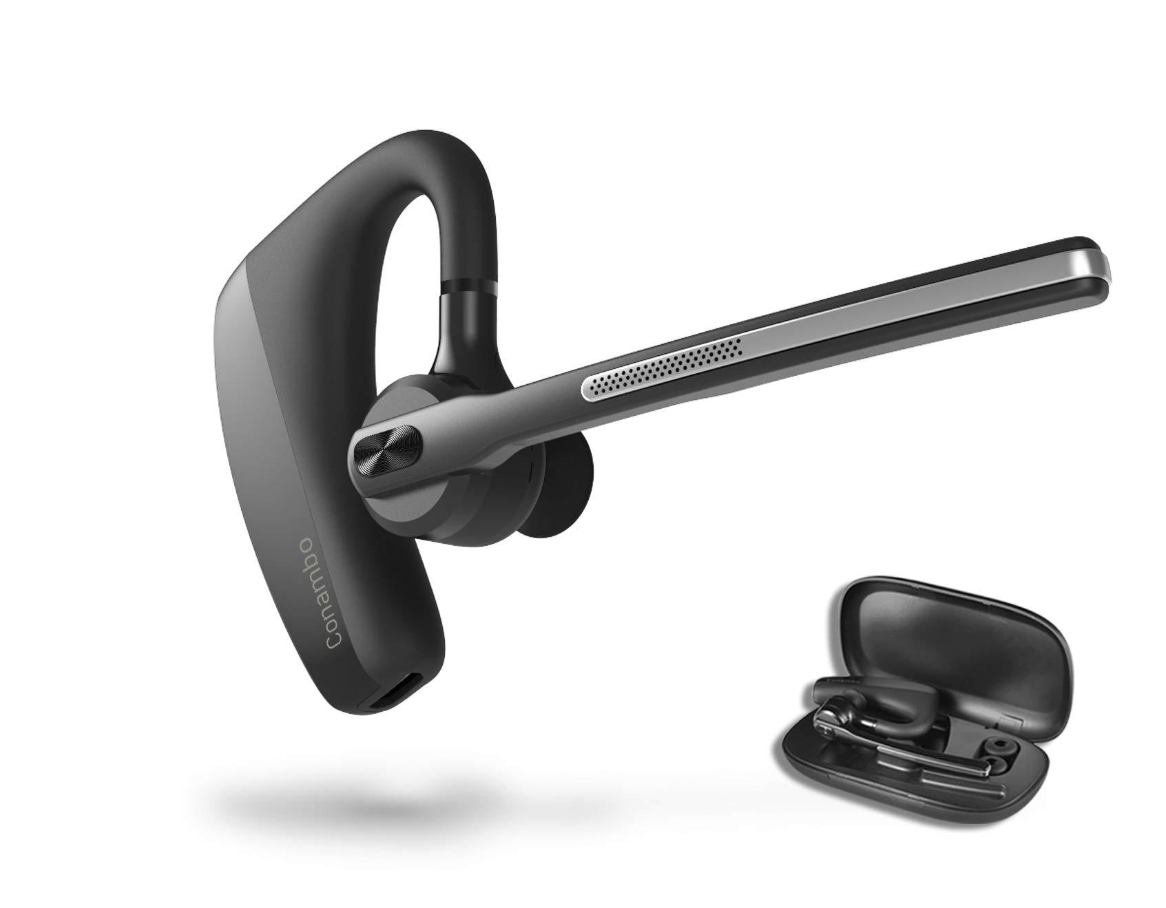 Bluetooth Headset 5.0, aptX HD 16 Hrs Talktime Bluetooth Earpiece, Noise Cancelling Wireless Earphones for Cell Phones Business Trucker by Conambo
