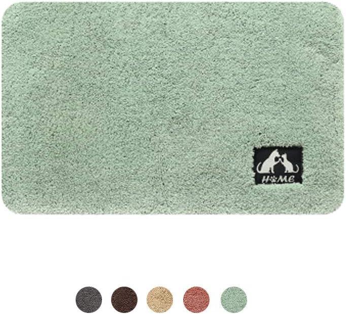 Alfombrilla de Ba/ño Absorbente Verde, 60X90cm DXIA Alfombra de Ba/ño Antideslizante Tapete para el Piso Lavable a M/áquina Cocina Microfibras Suaves Absorbentes de Agua para Cuarto de ba/ño