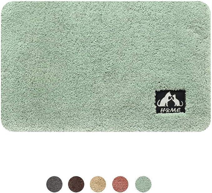 Dxia Door Mat Non Slip Indoor Doormat Machine Washable Barrier Mat Large Thick Decorative Absorbent Cotton Doormat Shoes Scraper Entrance Rug For Front Door 40x60cm Green Amazon Co Uk Kitchen Home
