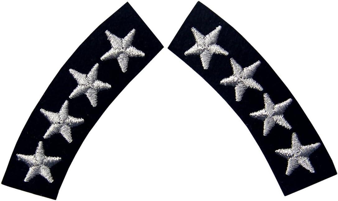 Uniforme de la Marina de Cuatro Estrellas Bordados Decorativos de Hierro de Moda en Parche Cosido Astilla Pack de 2