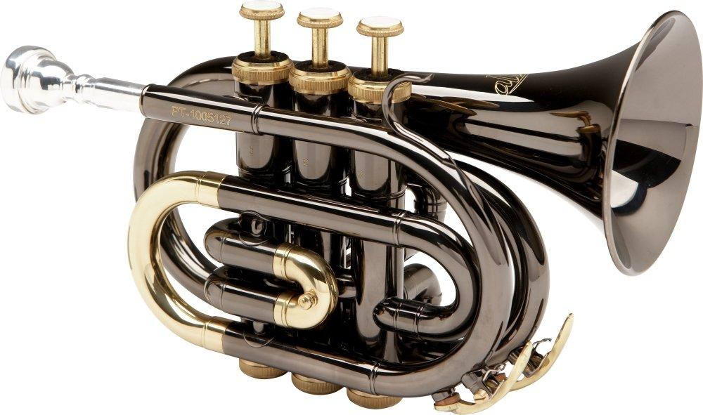 Allora MXPT-5801-BK Black Nickel Series Pocket Trumpet Black Nickel by Allora