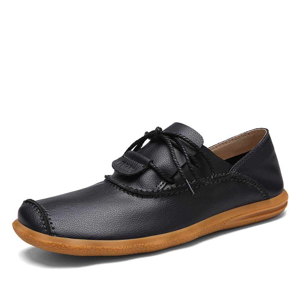 Amazon.com | Mens Leather Moccasins Cap-Toe Driving Loafers Flat Dress Oxford Shoes | Oxfords