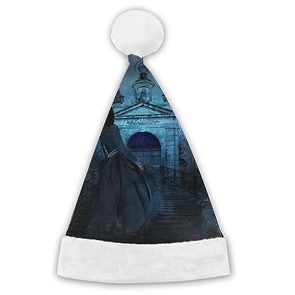 c057e096fb8265 ... best price halloween night cemetery scary dark duke xmas cap hat santa  claus party for vacation