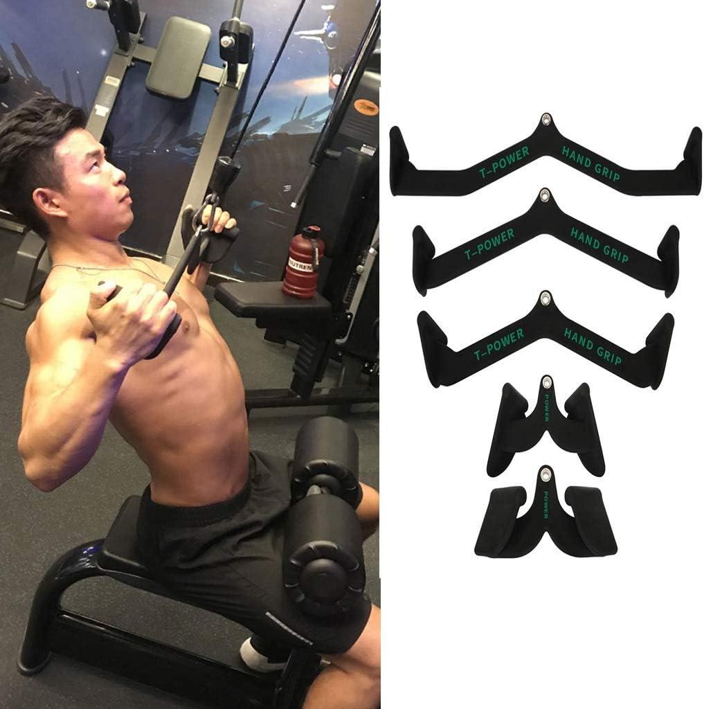 Blitz Fitness Revolving Curl Bar// Tricep Push Cable Machine Attachment