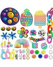 50 st fidgetleksaker packset fidgetleksaker paket fidgetleksaker paket stresslindring och anti-ångestverktyg sensoriska leksaker för barn vuxna, party godsaker väskor fyllmedel