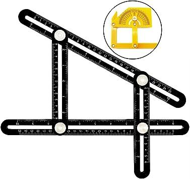 color amarillo regla de m/últiples /ángulos y formas para cualquier superficie Medida//regla de alta durabilidad Angleizer