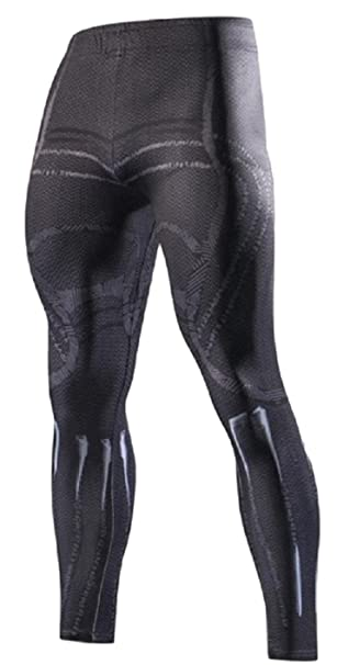 7db69573cb1ffb Super Heroes One Size Fits Most Novelty Cosplay Leggings Multiple Styles (Black  Panther)