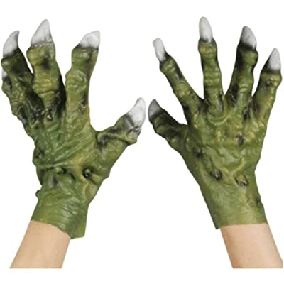 Star Power Monster Hands with Thick Fingers Gloves, Green, One-Size: Toys & Games