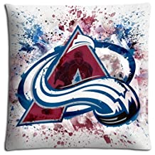 Colorado Avalanche Sofa Pillow Protector Case LASTING Decorate Zippered Polyester Cotton 18x18 inch 45x45 cm