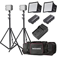 Neewer 2x160 LED Dimmable Ultra High Power Panel Lighting Kit