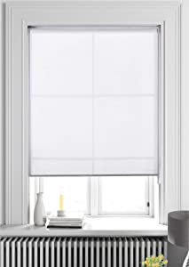 ALLBRIGHT Light Filtering Roller Shades, Classic Privacy Room Darkening Roller Sheer Shades Blinds,Easy Installation for Home and Office Windows (29 x 72 inches, White)