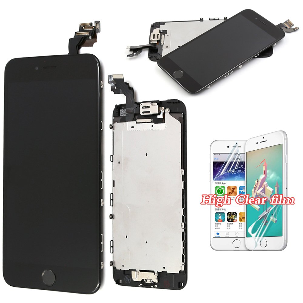 super popular bc8e4 615b1 LCD For iPhone 6 Plus Screen Replacement - Black Full Replacement Touch  Digitizer with Home Button + Sensor+Front Camera Frame Housing Assembly  Panel ...