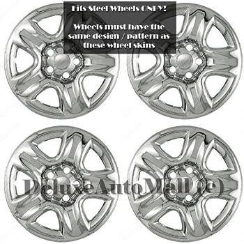 amazon deluxeauto 16 chrome wheel skins hubcaps set of 4 is Mitsubishi Pajero Jeep deluxeauto 16 chrome wheel skins hubcaps set of 4 is patible with