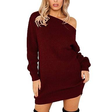 ec97207aecaa2 NEEDRA Women Sweaters Jumpers Off Shoulder Bardot Sweatshirt Work Office  Warm Elegant Knitwear Sexy Maternity Cashmere