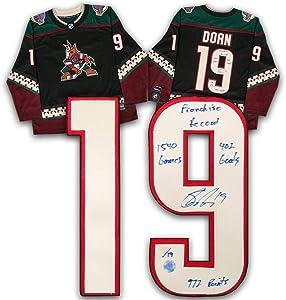 Shane Doan Arizona Coyotes Signed & Inscribed Franchise Record Retro Fanatics Hockey Jersey #/19 - Autographed NHL Jerseys