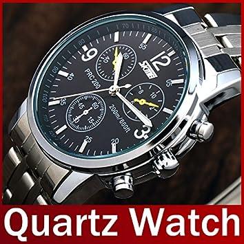 ozuzu (TM) nuevo Fashion 2015 Skmei marca hombre Casual analógico de cuarzo reloj de pulsera acero inoxidable resistente al agua reloj para hombre Relogio ...