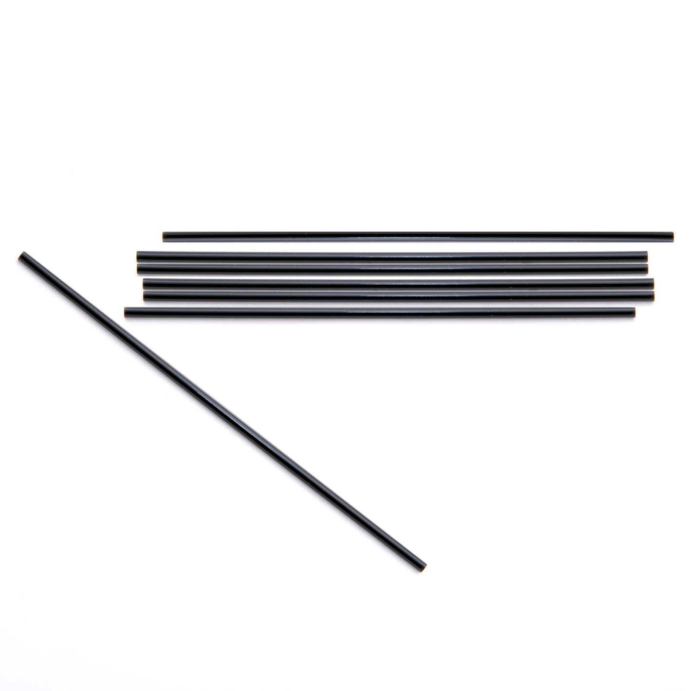 "Daxwell 5"" x 2.7mm Coffee Stirrer, Black (10 Boxes of 1,000)"