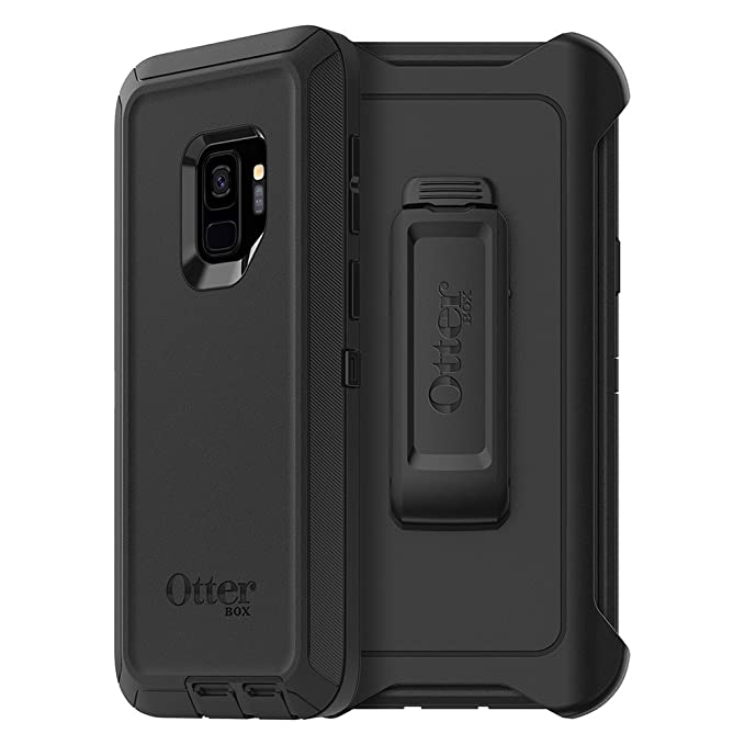 wholesale dealer d3726 9f086 OtterBox Defender Series Case for Samsung Galaxy S9 - Frustration Free  Packaging - Black