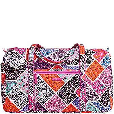Vera Bradley Women's Large Duffel, Signature Cotton, Lilac Tapestry