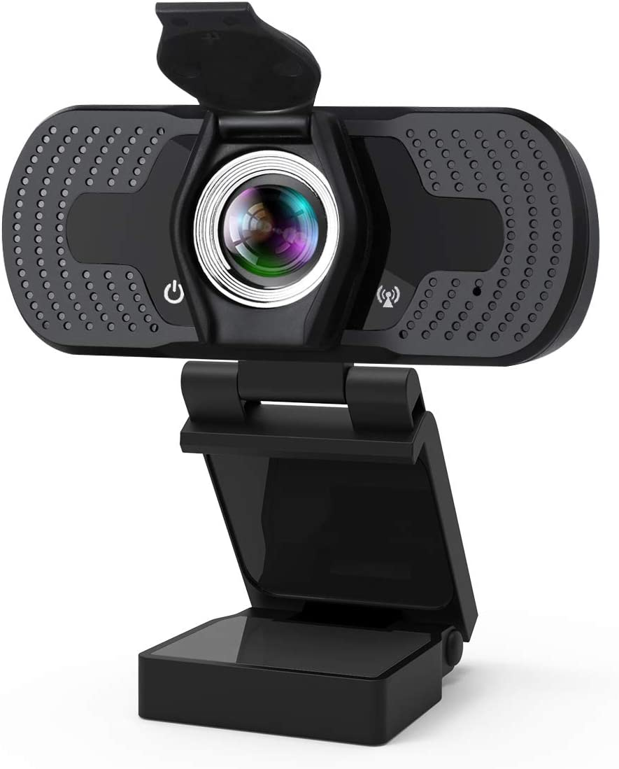 Webcam, 1080P Webcam with Microphone, Plug & Play USB 2.0 Computer Camera with Privacy Cover, Desktop/Laptop Webcam for Live Streaming, Video Call, Conference, Recording, Online Classes, Game