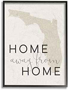 The Stupell Home Décor Collection Home Sweet Florida Typography Framed Giclee Texturized Art, 11x14