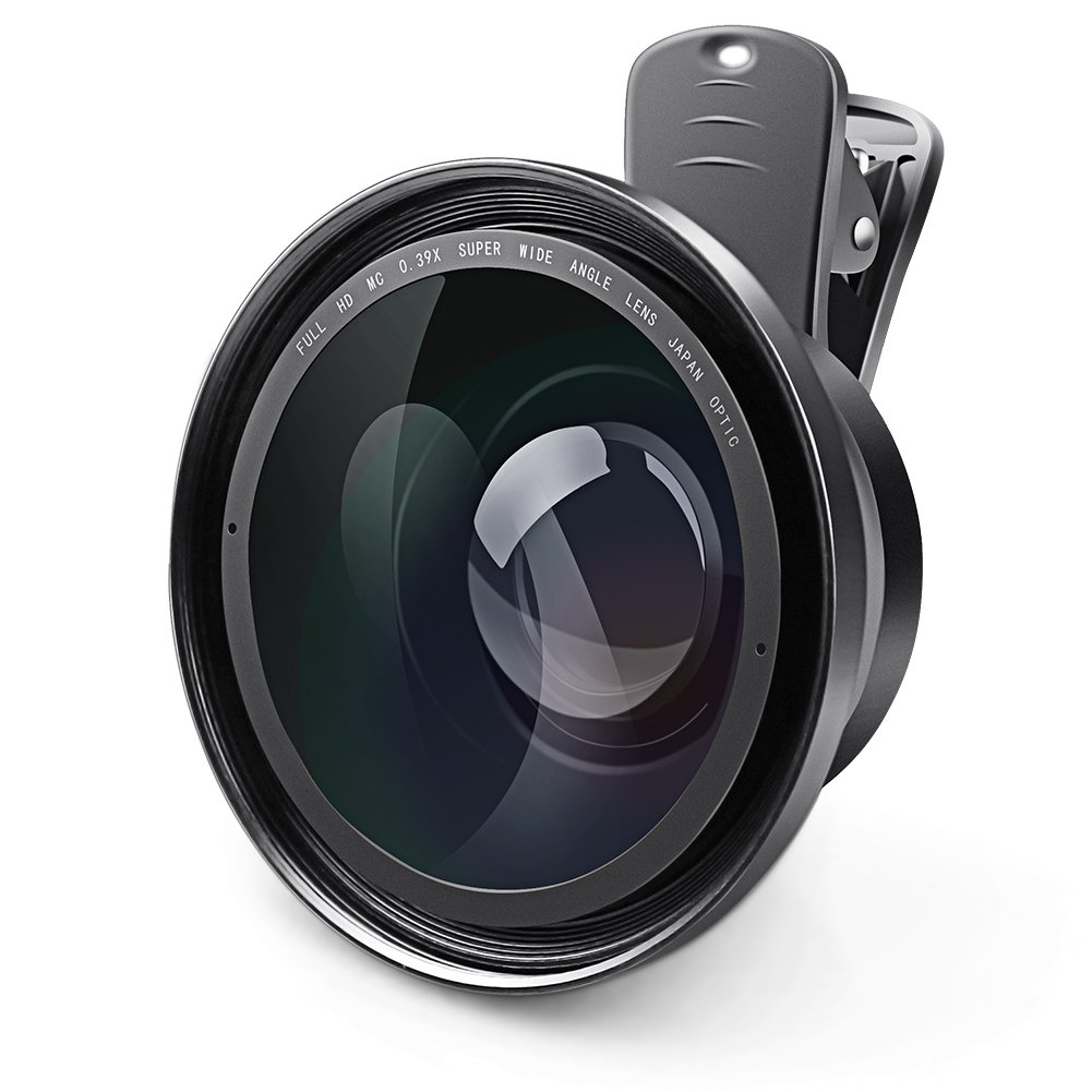 Clerance Camcorder Phone Lens, Eamplest Full HD 72mm 0.39X Super Wide Angle Lens with 37mm Macro Portion Camera Lenses Kit for Video Camera iPhone Samsung Smartphone (Camera Lens-0.39X) by Eamplest