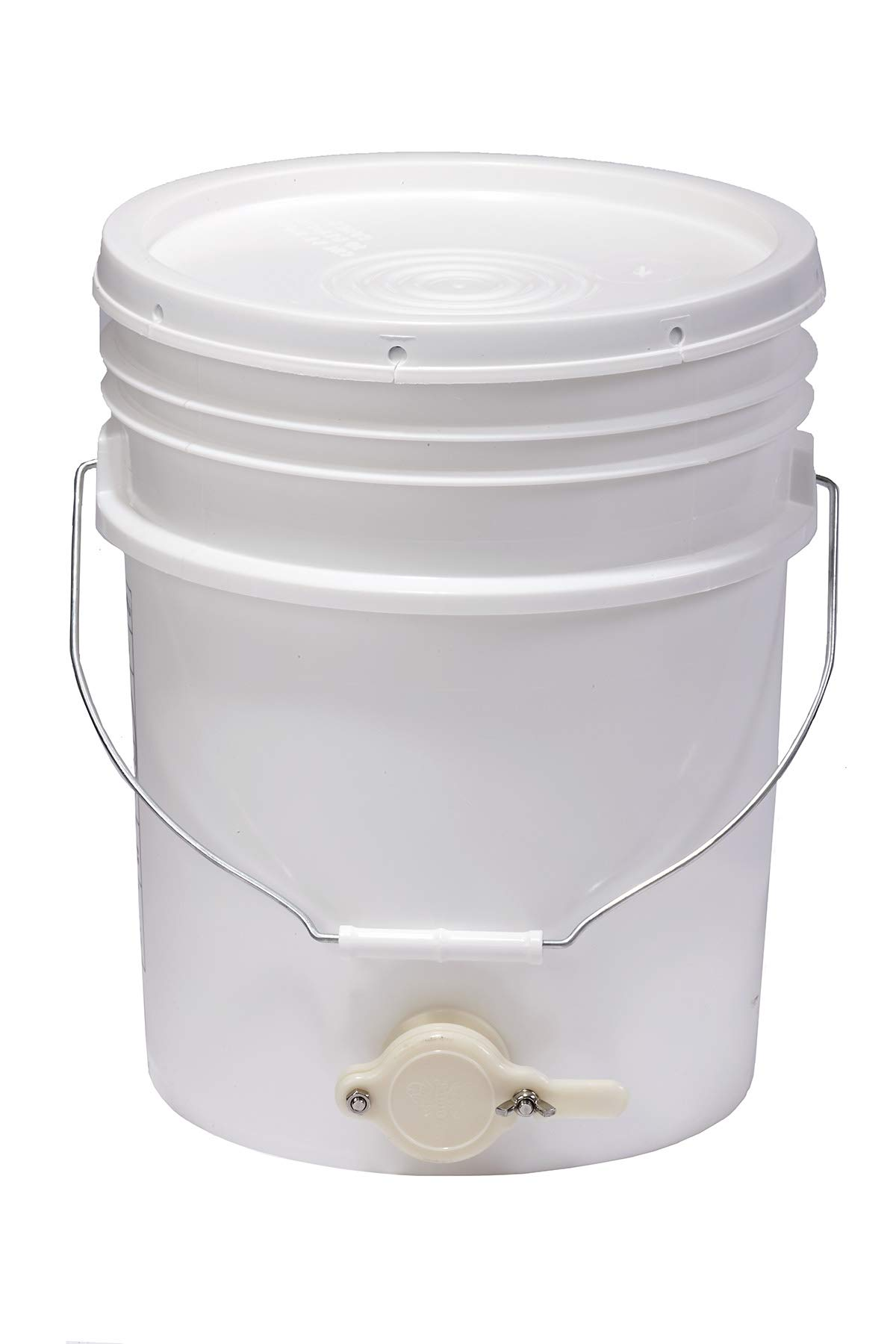 Little Giant Plastic Honey Bucket Bucket with Honey Gate for Beekeeping (5 Gallon) (Item No. BKT5)