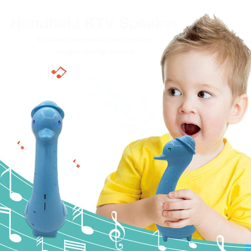 Kids Microphone - Portable Kid Karaoke Microphone with Wireless Bluetooth Speakers Magic Voice Music Toy for Boys, Girls, Toddlers - Learning Education Gift