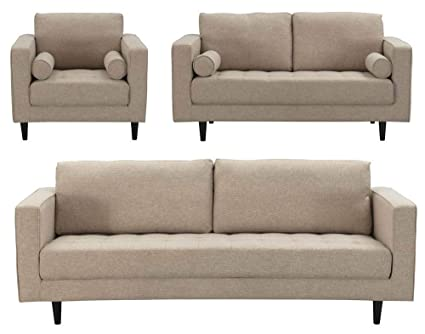 Amazon.com: Manhattan Comfort 3-98124HL4 Arthur Modern Tweed ...