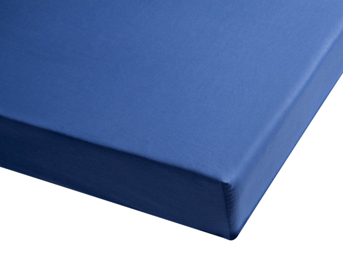 Sancarlos - Sábana bajera , 100% Algodón percal, Color azul marino, Cama de 80