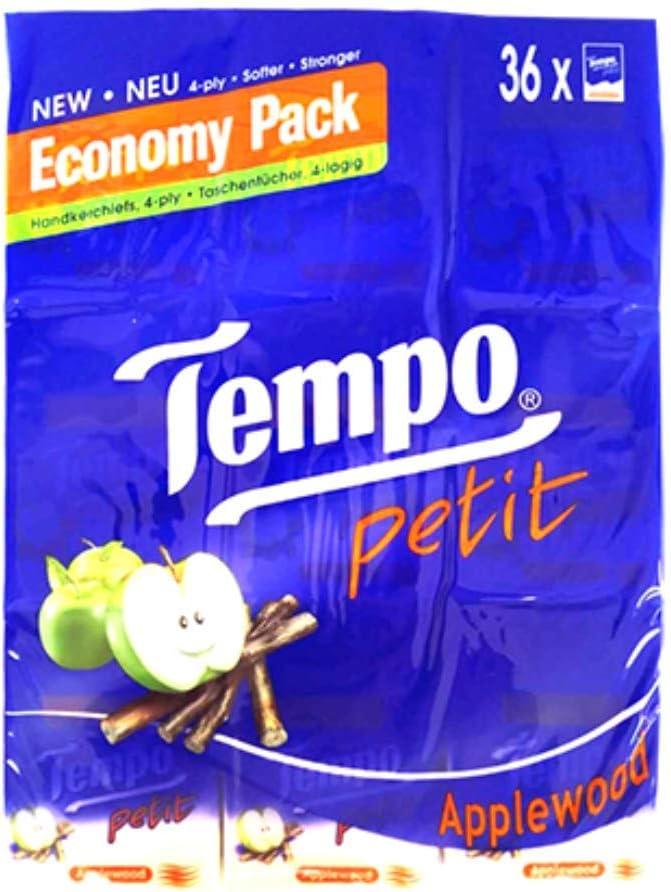 Tempo Petit Pocket Tissue (Apple Wood) 72 Packs (Hong Kong Version)