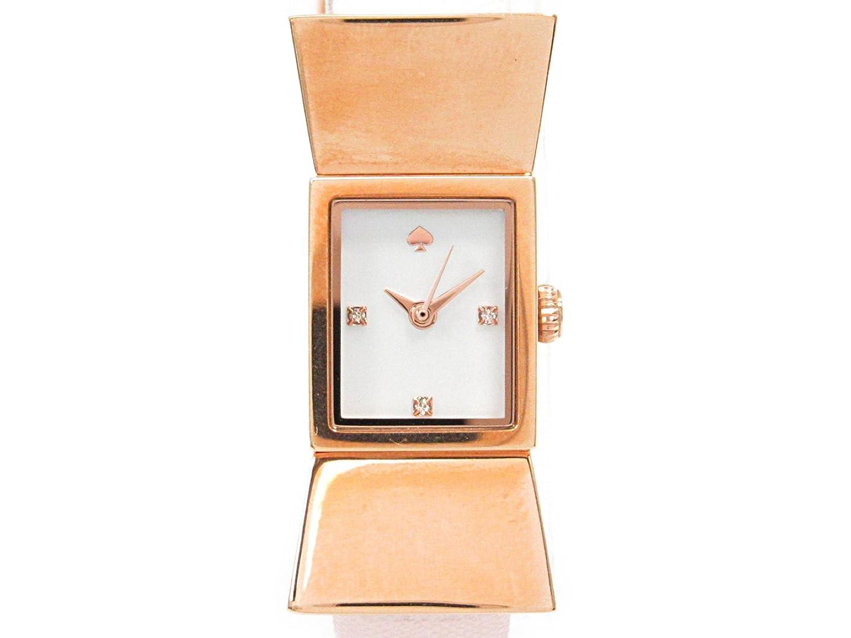 [ケイトスペード] kate spade 腕時計 ウォッチ ホワイト ステンレススチール(SS) xレザーベルト KS1YRU0763 [中古] レディース B0799RDWTF