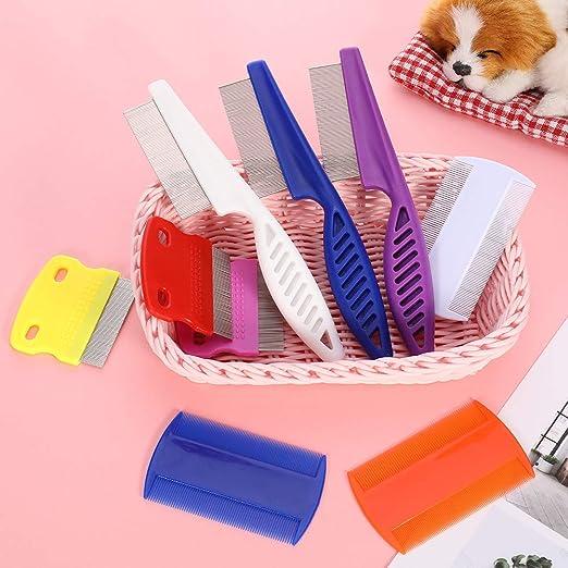 Angelikashalala Peine para peinar Las pulgas de los Gatos y Perros para Eliminar el Polvo de Las pulgas de Las Mascotas