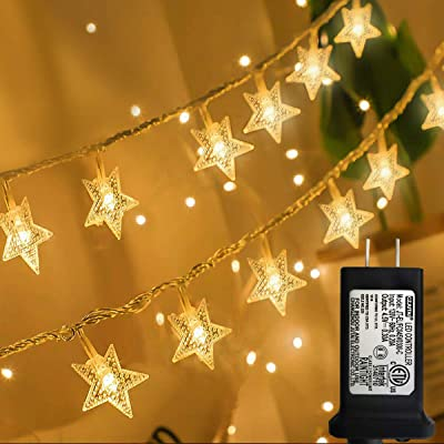 Star String Lights, 100 LED Plug in String Lights 33 feet 8 Modes Star Fairy Lights Waterproof Twinkle String Lights for Wedding Party Christmas Tree Garden Indoor Outdoor Decoration (Warm White) : Garden & Outdoor