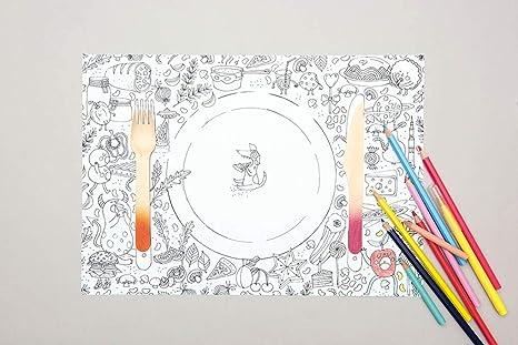 Rico Design Juego De Mesa De Papel Para Colorear Diseño De
