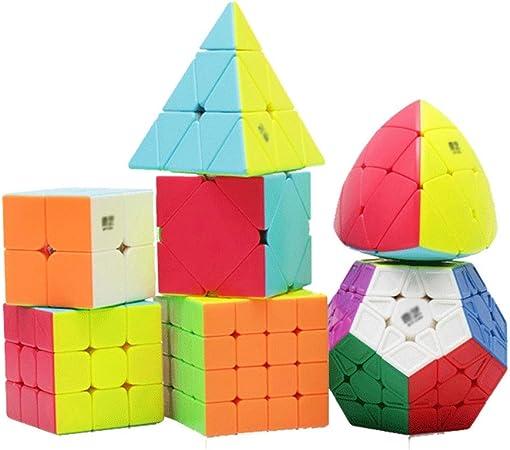 HXGL-Cubos Mágicos Cubo De La Velocidad Conjunto Cubo Mágico Juego 2x2 3x3 4x4 5x5 Pirámide Pyramorphix Megaminx Inclinación Cubo Conjunto Educativo Puzzle Regalo De Los Juguetes del Juego: Amazon.es: Hogar