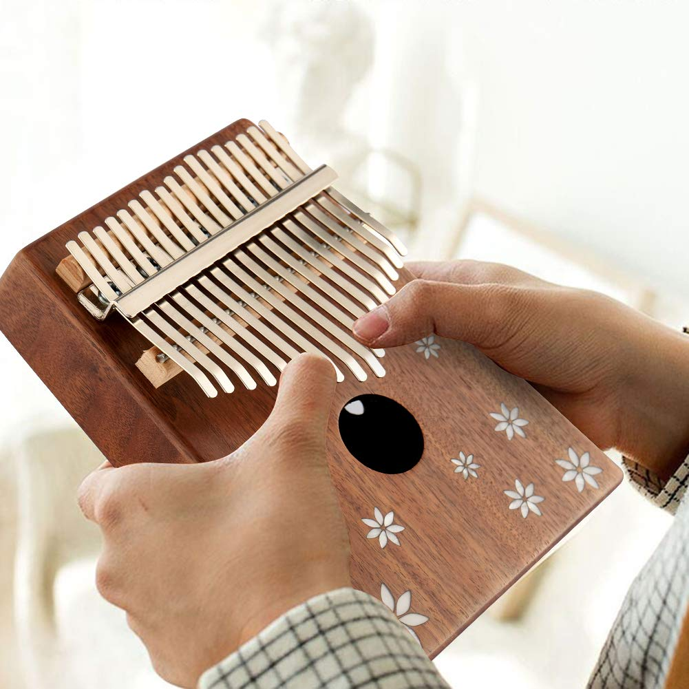Kalimba 17 Key Thumb Piano Finger Piano Mahogany Wood Body Mbira 17 Tone Musical Instrument for Kids Gift Beginner Musician with Music Book Tune Hammer and Bag by MIFXIN (Image #5)