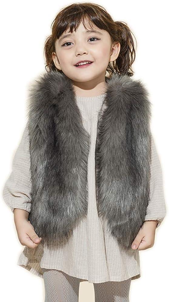 Sqocioo Girls Faux Fur Vest Coat