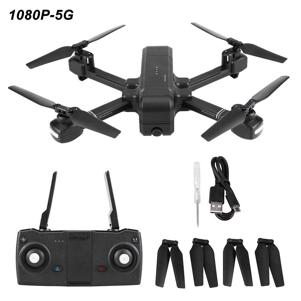 Dilwe Intelligente RC-Drohne, SJ Z5 GPS WiFi-Kamera Faltbare Intelligente Drohnen-Höhen-Halte-Smart-Fernbedienung Quadcopter( 1080P-5G) 1080p-5g