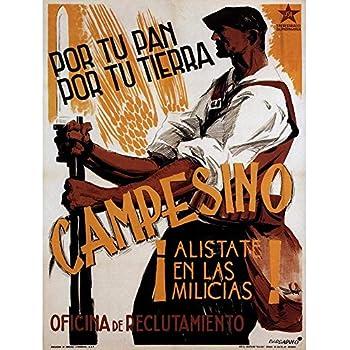 Wee Blue Coo War Propaganda Spanish Civil Jsu Socialism Republican Spain Vintage Unframed Wall Art Print Poster Home Decor Premium