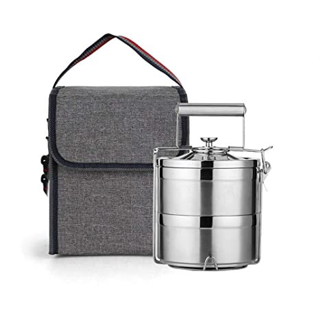 SSLBoo Lunch Box Thermos Food Container Lunch Box Acero ...