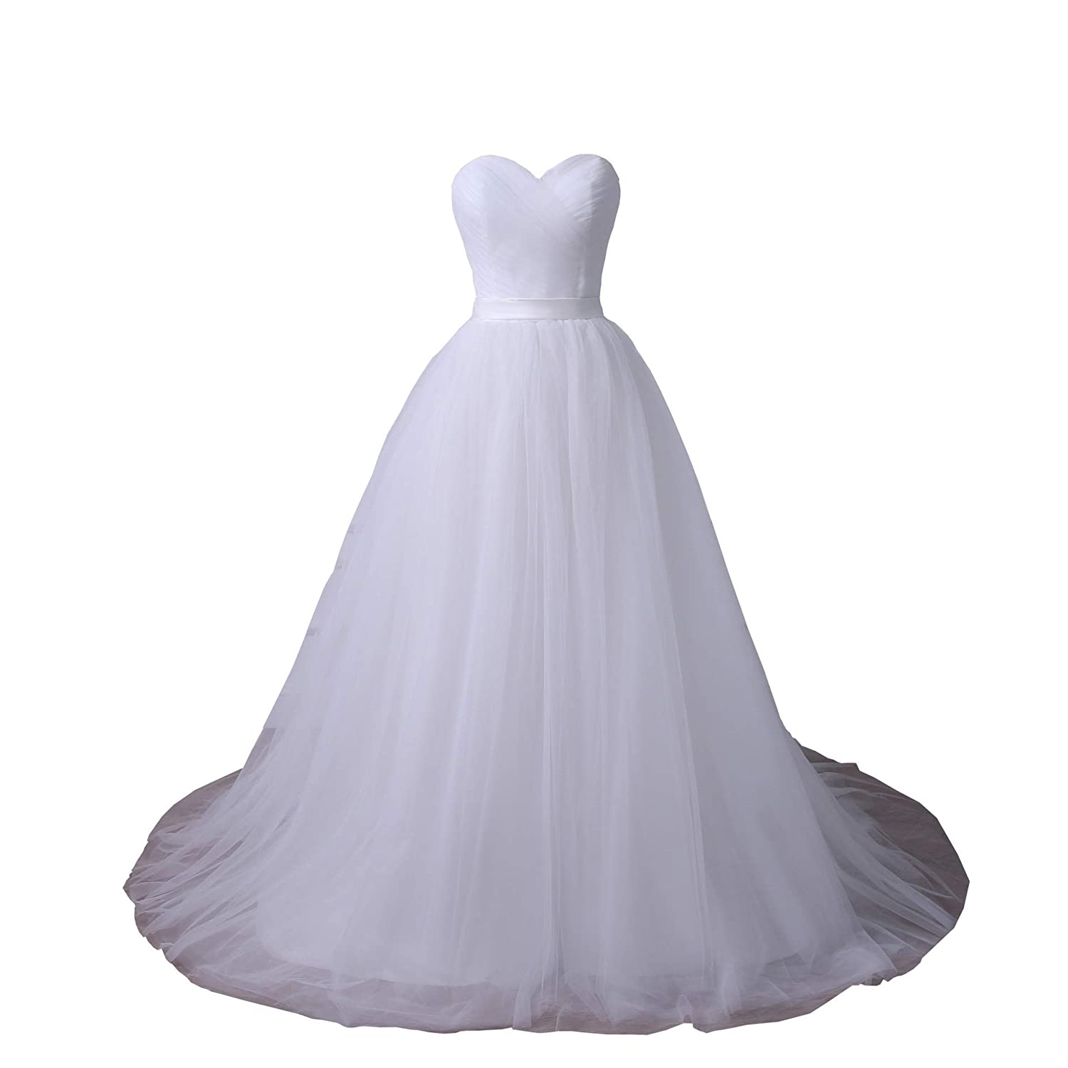 93f97ce0eac YIPEISHA Plus Size Wedding Dresses Sweetheart Sleeveless Corset Bridal Gown  with Pleats at Amazon Women s Clothing store