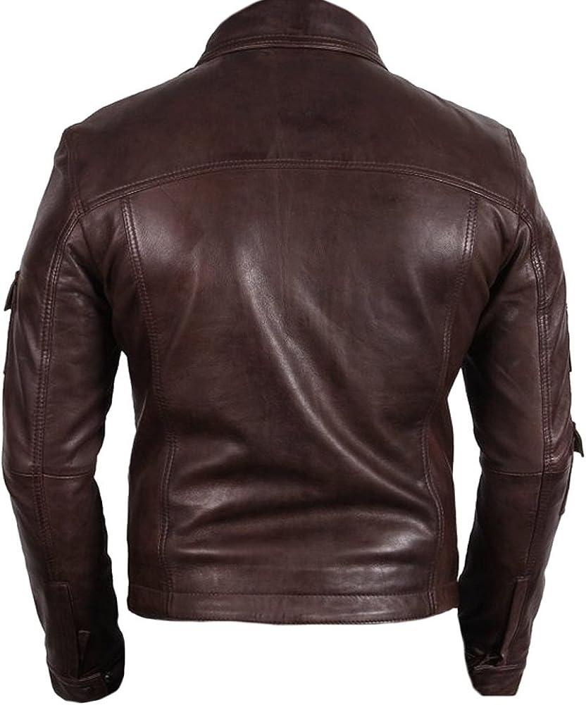 coolhides Mens Fashion Real Leather Jacket