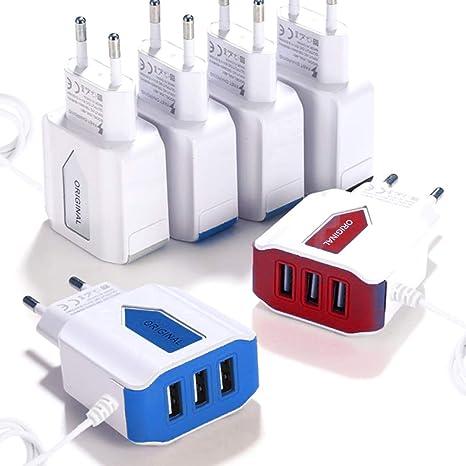ACECOREE- Cargador USB 3 Puertos 3 A Adaptador de Carga para ...